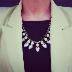 saboskirt:  Like rhinestone necklace is back in stock now! SaboSkirt.com #saboskirt  (Taken with Instagram)
