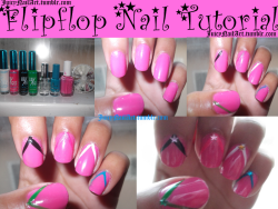 How-to: Flipflops I like how simple it is to do  and how effective it is to be.  juicynailart:  I did this random design and thought it looked like flipflops