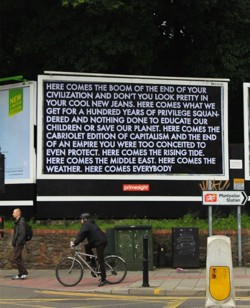 vandalog:  Robert Montgomery for the Brandalism project