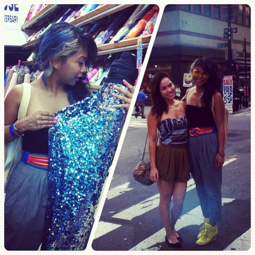 amanduhlee:  Footloose in the city with the funky fresh @nezzifresh! (Taken with Instagram)