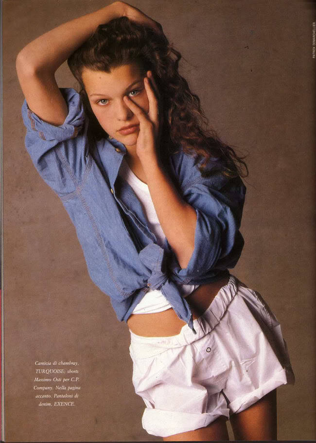 suicideblonde:  Milla Jovovich photographed by Patrick Demarchelier in 1988