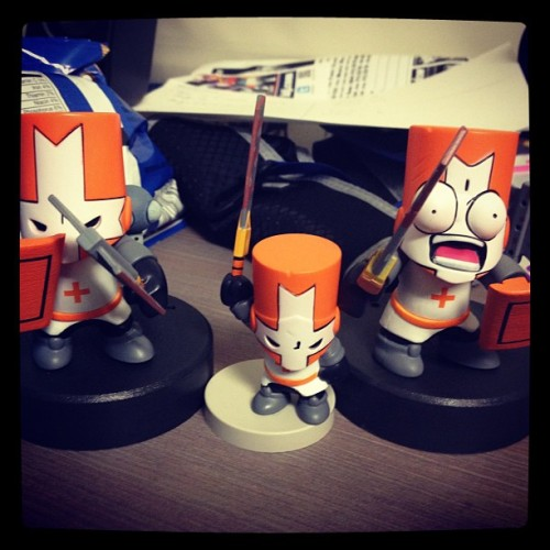 Orange Knight #castlecrashers #behemoth #sdcc #toys (Taken with Instagram)