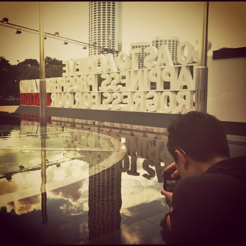 Say and shoot your #pledgesg  (Taken with Instagram)