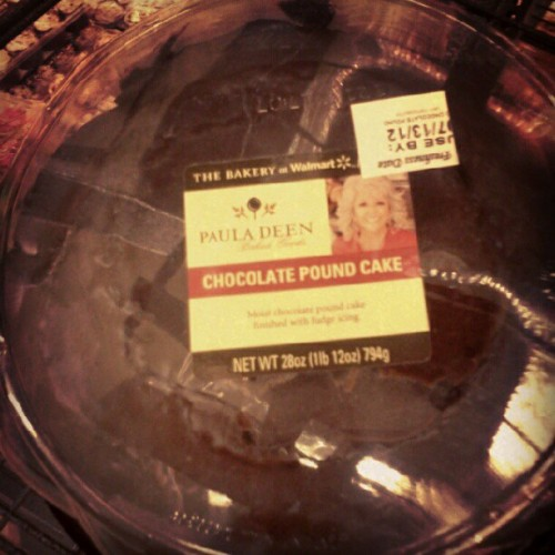 #pauladeen #america #chocolate #cake #butter #yum #food (Taken with Instagram)