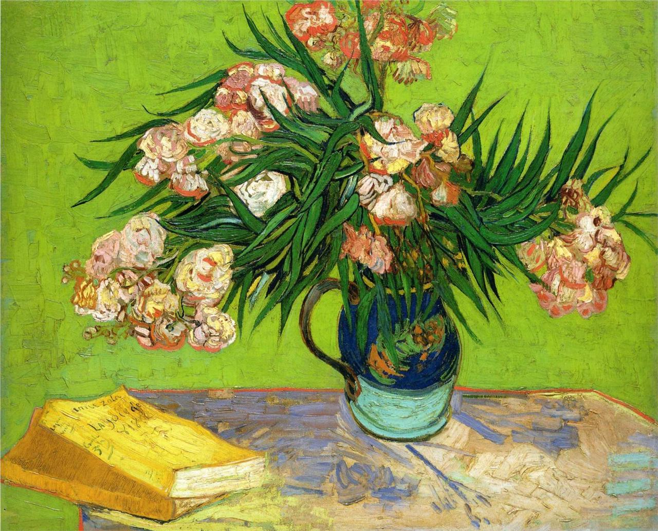 nevver:  Vase with Oleanders and Books, Vincent van Gogh