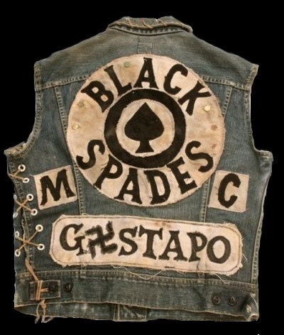 "porkmagazine:  semensperms:  Black Spades Gestapo  THE BLACK SPADES WERE A NYC BLACK STREET GANG THAT STARTED AS THE SAVAGE SEVEN & THEN CHANGED THEIR NAME TO THE BLACK SPADES AS THEY GREW. AFRIKA ""PLANET ROCK"" BAMBAATAA WAS THEIR WARLORD UNTIL 1973 WHEN HE WENT ON TO FORM THE UNIVERSAL ZULU NATION. MY POINT IN ALL THIS, ASIDE FROM LOVING THIS ON ALL LEVELS, IS THAT THIS IS A BLACK NYC STREET GANG ROCKING SWASTIKAS & CALLING THEIR INTERNAL OUTFIT ""GESTAPO"". GUESS WHAT, THE BLACK SPADES WERE NOT NAZIS. THIS IS ALL ABOUT A STYLE & A MENTALITY THAT HAS NOTHING TO DO WITH THE WORLD OF SQUARE POLITICS.    totally a difference when the oppressed take the oppressors' names/symbols and turn it back on them, than suburban douchebag white kids doin it to piss off their moms tho"