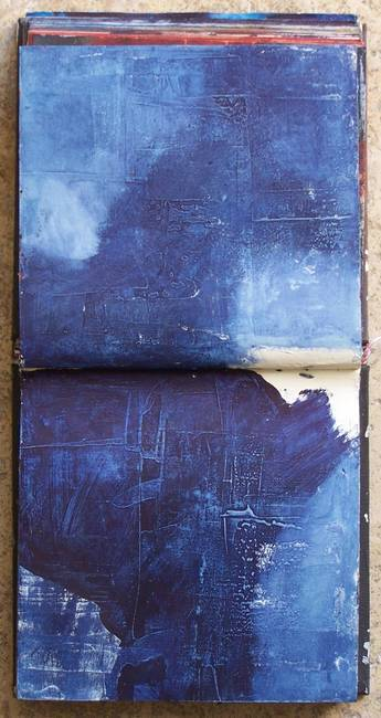 livre-de-matieres: I'm searching III, carnet de travail Pigments, Élisabeth Couloigner I carry the blues.