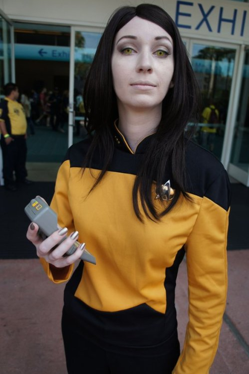 Comic-con Cosplay as Data, imo it was the best from Star Trek.http://scificity.tumblr.com