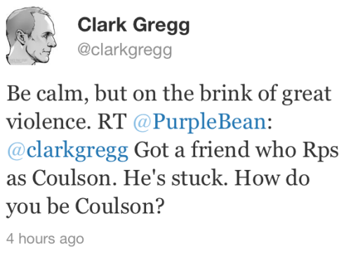 johanirae:  Clark Gregg offers best summary of Agent Coulson EVER.  …whoa.