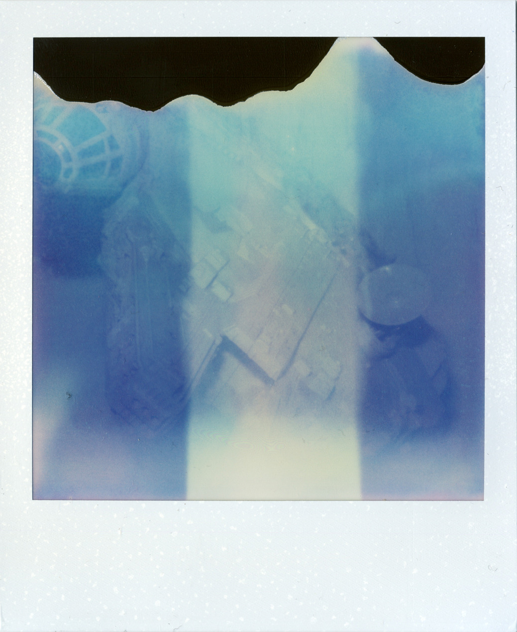 out of the blue  Camera: Polaroid Sx-70 Sonar Autofocus; Film: Impossible Project PX 70 PUSH
