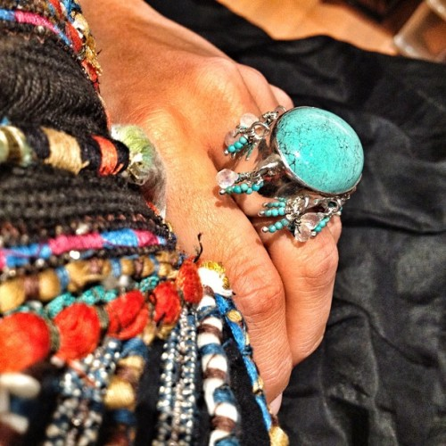 Colourfully #tribal + last piece standing bespoke #Turquoise #chandelier ring in size M! #sterlingsilver #leivankash #jewellery  (Taken with Instagram)