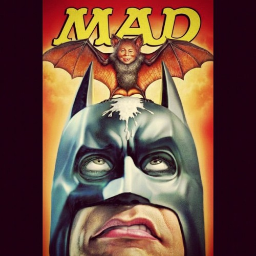 What a shitty morning #Batman!!! #MAD #MadMagazine #DarkKnightRises #DarkKnight #DC #Bane #Catwoman #Comics  (Taken with Instagram)