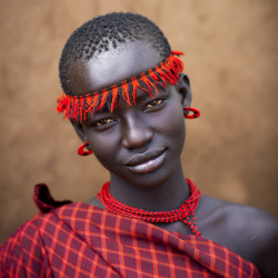 Bodi tribe woman, Hana Mursi, Omo Ethiopia by Eric Lafforgue on Flickr.
