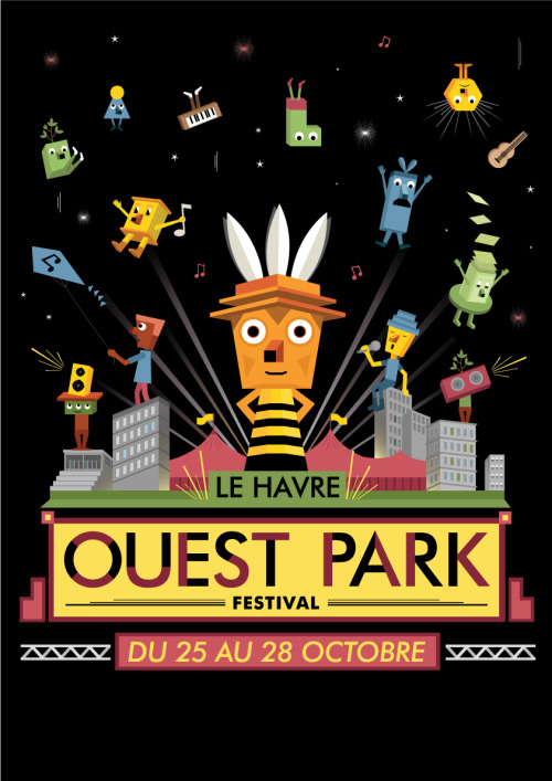Artwork for OuestPark festival ( Le Havre, France )
