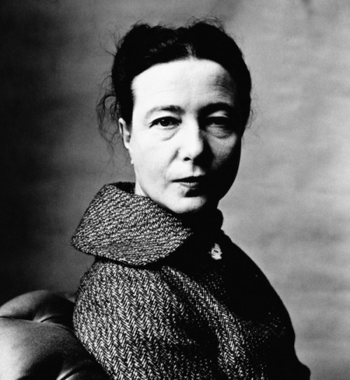 lauramcphee:  Simone de Beauvoir, Paris, 1957 (Irving Penn)
