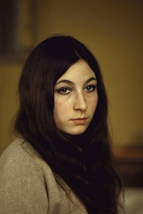 A young Anjelica Huston, late 1960s.