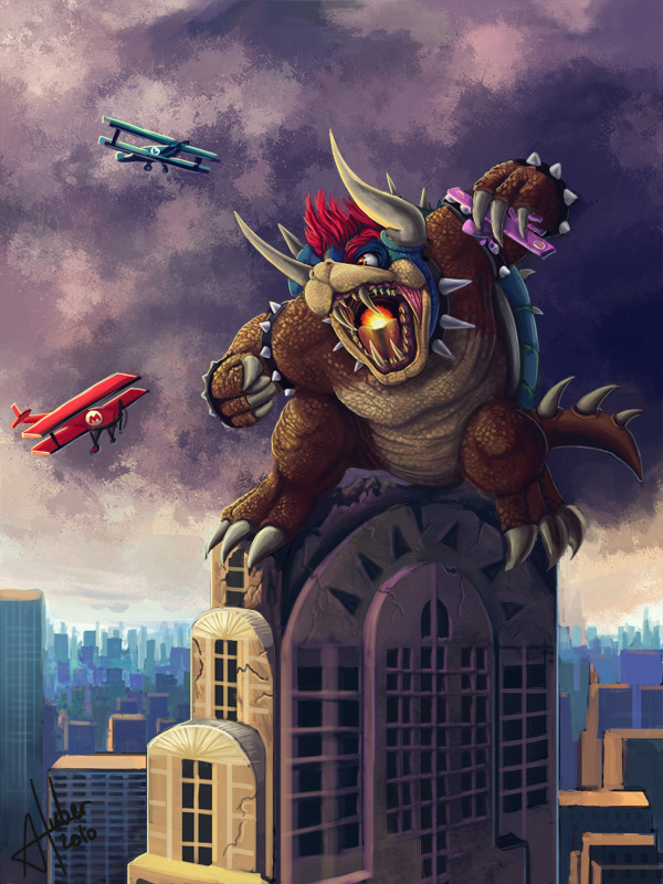 King Bowser Kong by *AnnickHuber