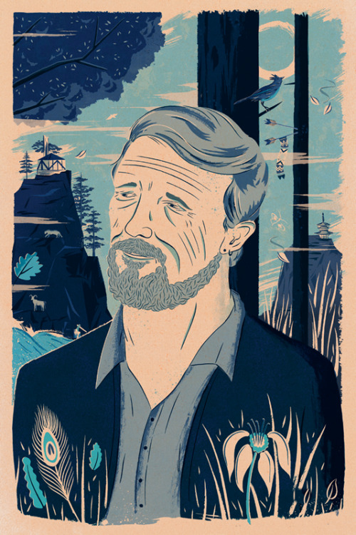 adamhancher:  Gary Snyder A portrait of Gary Snyder for The Church of London's latest publication The Acid Rambler. A bit different from the usual work, but it was good fun to work in more detail!