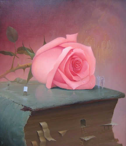 art-and-dream:  Art painting contemporary romantic surrealist still life by   Viktor Bregeda Russian