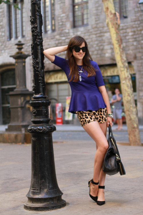 animal print and peplum style shirt? yes please!