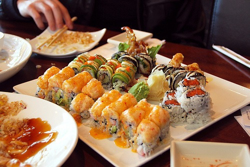 Sushi makes me happy