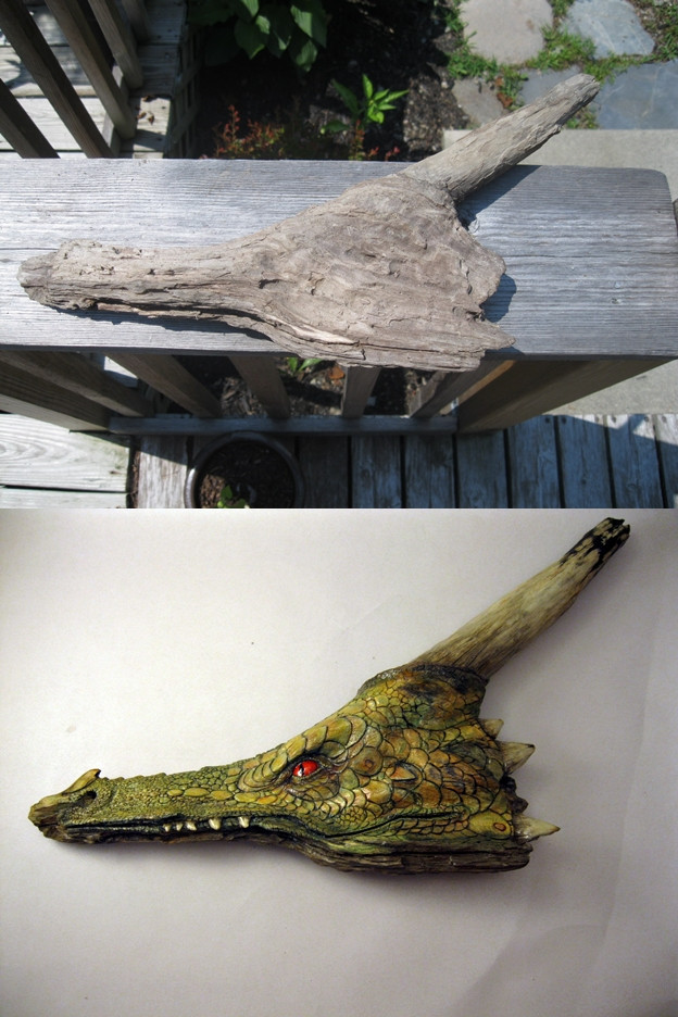 donsway:  Carved Dragon from a piece of driftwood.  This is incredible.