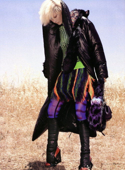 Delfine Bafort by KT Auleta for Elle US October 2011.