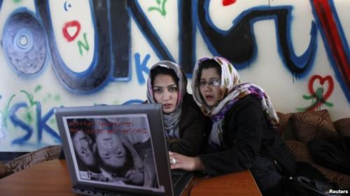 Exclusive Internet Cafe Connects Afghan Women To The World KABUL — Dozens of women flock each day through the discreetly marked doors of Kabul's Sahar Gul Cafe, Afghanistan's first all-female Internet cafe…[read more]
