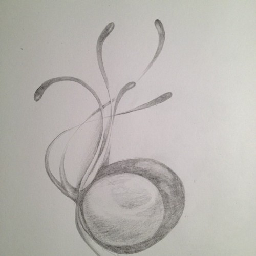 Not really sure what it is yet #art #sketch #pencil #abstract (Taken with Instagram)