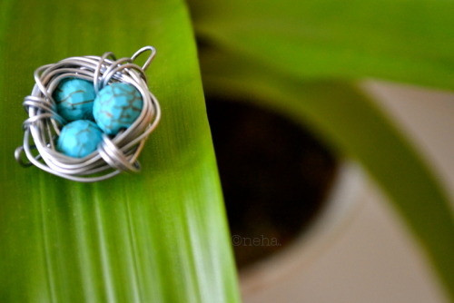 "So I re-introduced the DIY Bird's Nest Pendant earlier this week and since then it's kinda been 're-blogged' and 'liked' more than ever :3  So I decided to upload some of the ""after"" shots :)"
