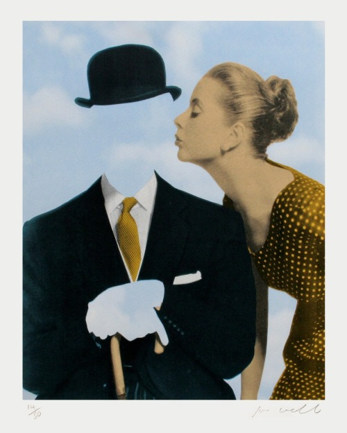 marysoul:  Kissing Magritte by Joe Webb