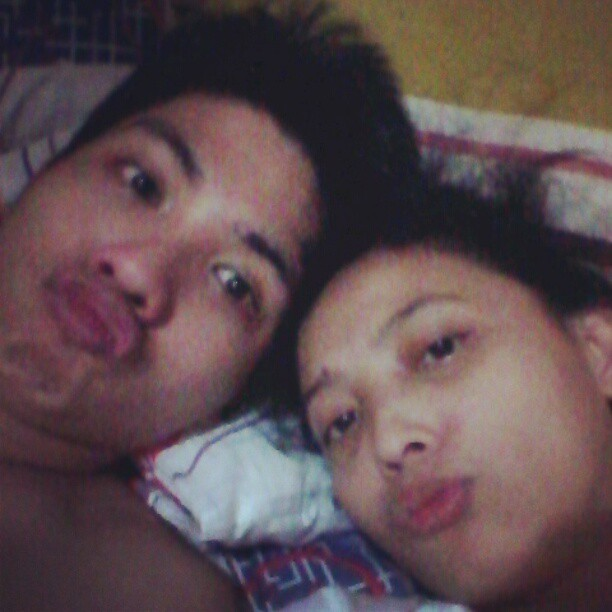 Goofin' around. Trying to do this duck face. @PeenkPalaka #missingyou (Taken with Instagram at Baloran's Residence)