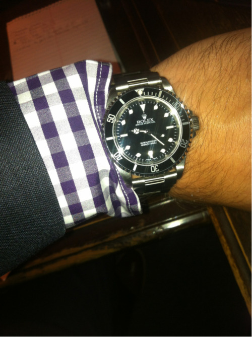 Submariner on the wrist today.