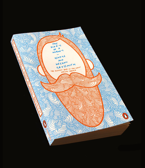 supermundaneisroblowe:  I was asked to design the cover of The Diary of a Nobody for Penguin Essentials. Given pretty much a free reign I couldn't resist getting my favourite colours, Orange & Blue in there.