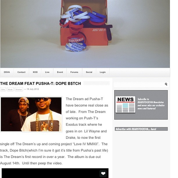 #pushat #thedream #video #peep http://www.deadstocksva.com #goodmusic #kanye # (Taken with Instagram)