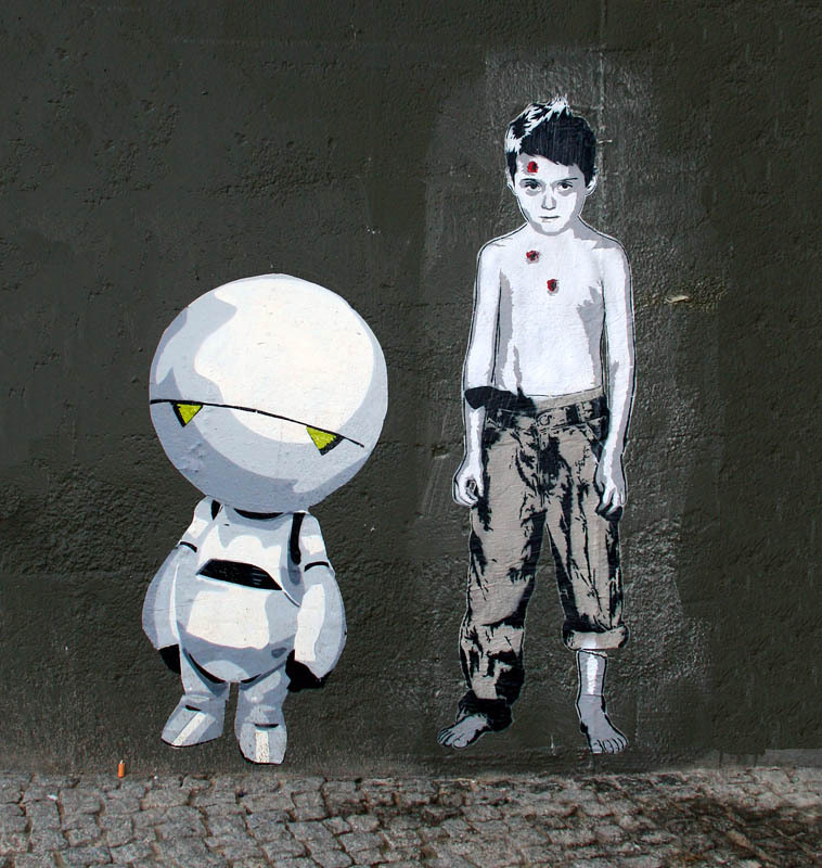 zuppadivetro:  gassenhauer:  Alias and another guy / Berlin 2012  street art
