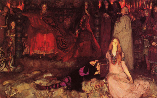amarantines:  Edwin Austin Abbey - The Play Scene in Hamlet (1897)  ART in Westeros Brandon Stark and Catelyn Tully