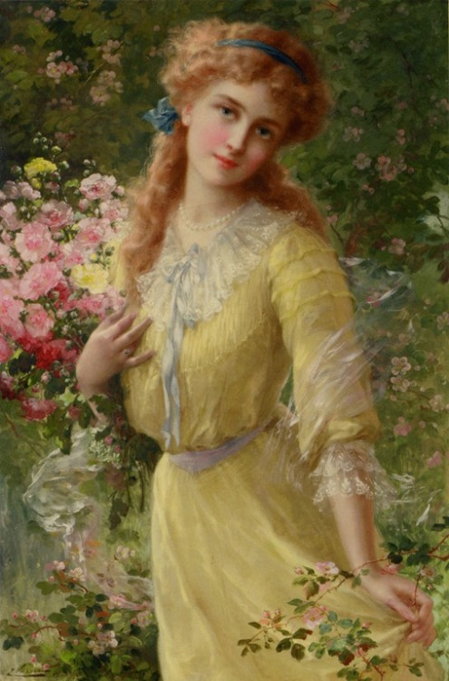 old-fashionedcharm:  Emile Vernon - In the Garden (1910)