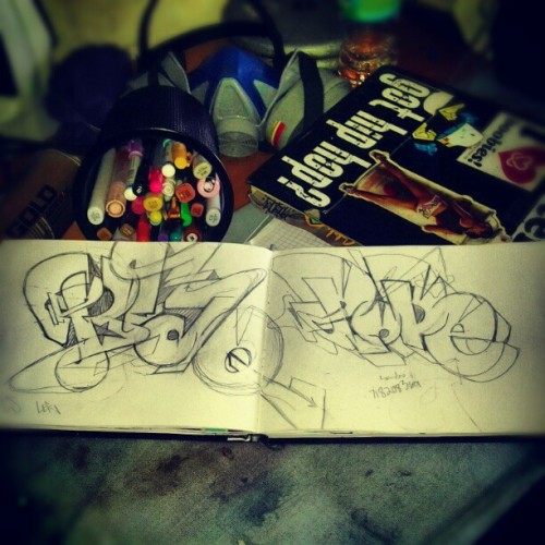 Blaq Dope #BlaQ #Dope #blaqbook #blackbooksessions #blackbook #sketch  (Taken with Instagram)