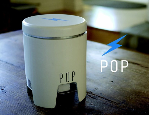 siminoff: POP- The Intersection of Charging and Design. POP's rechargeable 25,000 mAh battery makes it the largest portable device charger available. The below chart gives you an idea of just how big POP's battery is compared to the competition. Our first product on Kickstarter, very, very, very exciting day. Also check out some nice coverage we got at PandoDaily.