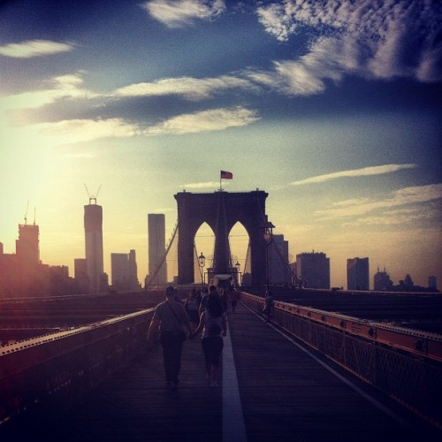 Brooklyn Bridge #walking #sunsets #summer
