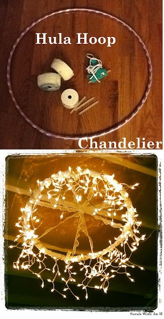 {Hula Hoop} Chandelier —So fun and cheap!