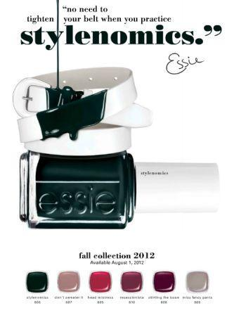 nailcandy101:  Essie Stylenomics Fall 2012 nail polish collection