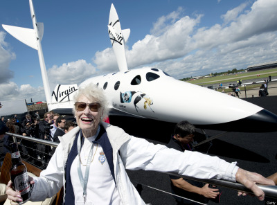 Space Cadet More people have now signed up for suborbital flights aboard Richard Branson's SpaceShipTwo than have ever been in space.  To date, 528 people have travelled in space. But over 529 soon to be astronauts have put down deposits to travel 68 miles above the Earth's surface.  There are reports that celebrities such as Ashton Kutcher, Brad Pitt, Angelina Jolie, Tom Hanks and Katy Perry have signed up.  Branson's tickets to space cost $200K, but he is by no means the only player.  Excalibur Almaz plans to take people on six month long journeys around the moon for the price of $155 million.  In March, the FAA predicted that private space travel will become a billon-dollar industry within the next decade.    Will space become the new pit stop for the jet set?