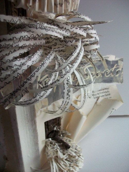 louisaboydart:  Keeping Secrets - 2009 - detail, altered book Louisa Boyd http://www.facebook.com/louisaboydart