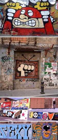 45 photos from Barcelona 2001 (Xupet Negre, Pez, Banksy,Honet, Stak…)