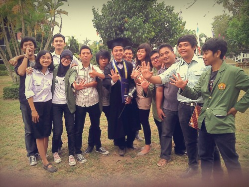 Percussion family who was at kak @afdhilsalim 's Fanfare, 14th July 2012.