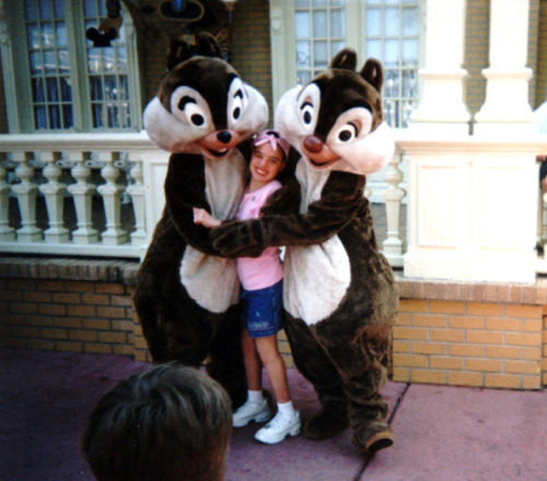Cherity loves Chip and Dale! She even got to meet them during her wish trip to Walt Disney World!
