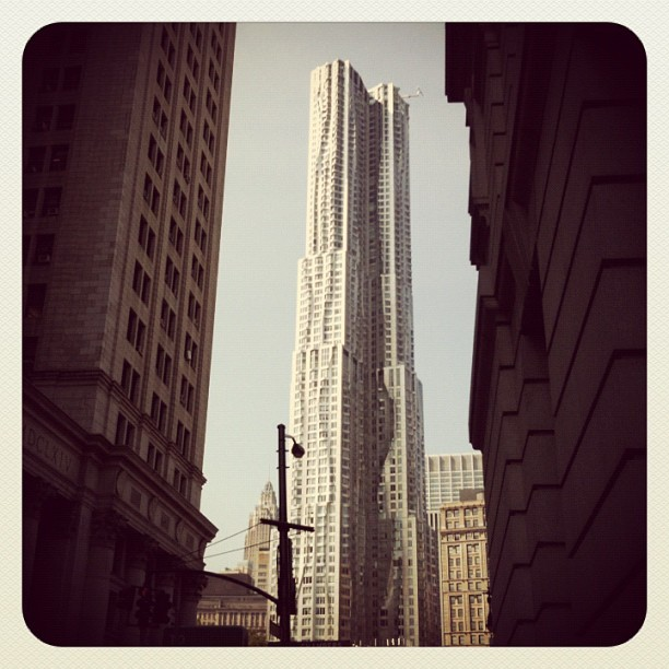 thirskuk:  Gehry through canyon #nyc (Taken with Instagram at Beekman tower)