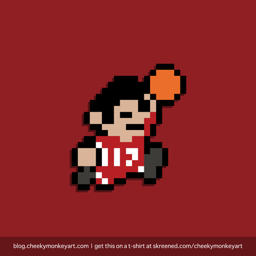 Super Lintendo (Houston Rockets) | Purchase this on a t-shirt or as a digital print / wall art. See the old Knicks version here.
